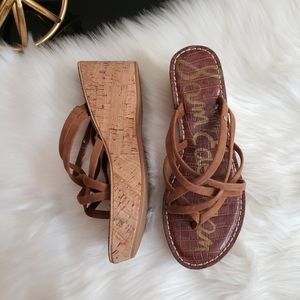 Sam Edelman | 8M Reanna 3D cork wedge sandals NWOT